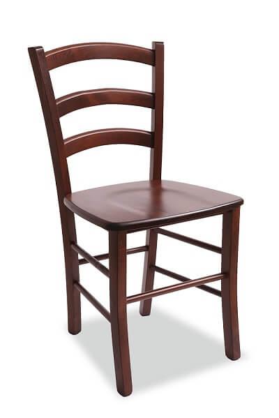 כסא עץ בוק לפינת אוכל בצבע כהה