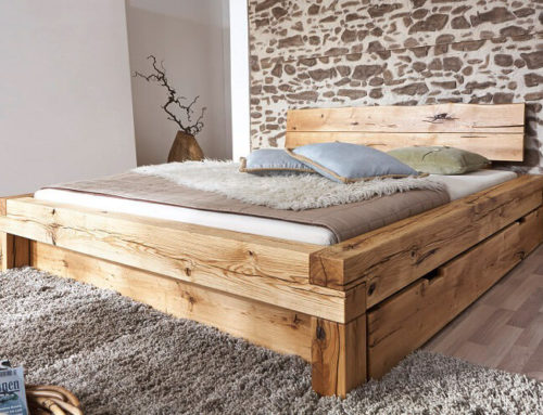 מיטה מעץ אלון – דגם A
