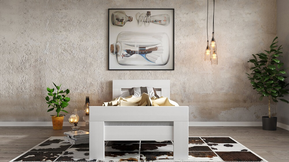 מיטה יחיד דגם נקס מעץ מלא