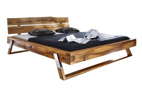 מיטה מעץ אלון - דגם B