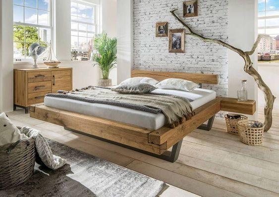 מיטה מעץ אלון - דגם C