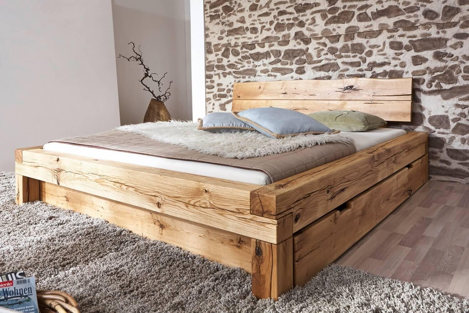 מיטה מעץ אלון - דגם A