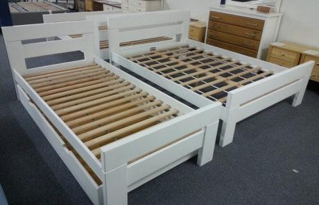 מיטת יחיד מעץ מלא - דגם נקס