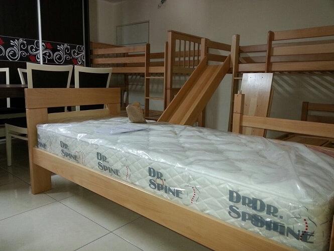 מיטת עץ יחיד - דגם נקס