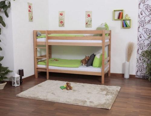 מיטת קומותיים מעץ – דגם לני