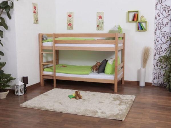 מיטת קומותיים מעץ - דגם לני