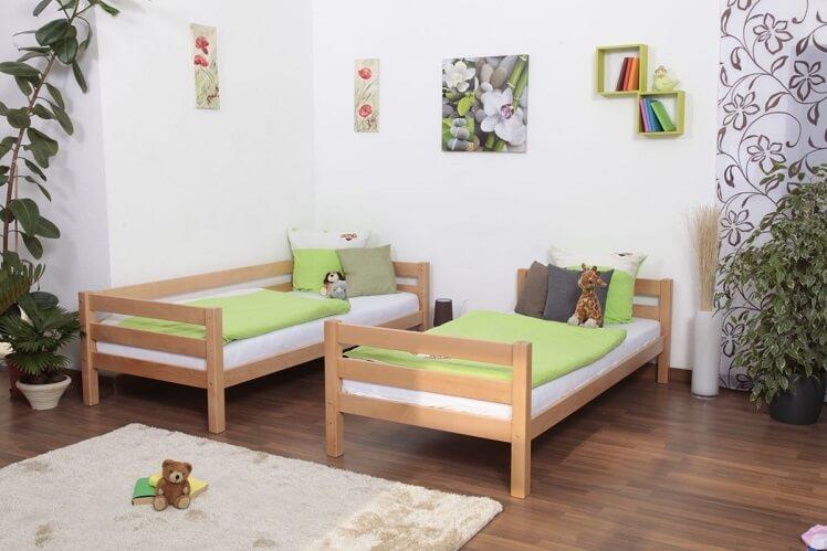 מיטת קומותיים מעץ - ניתנת לפירוק ל 2 מיטות