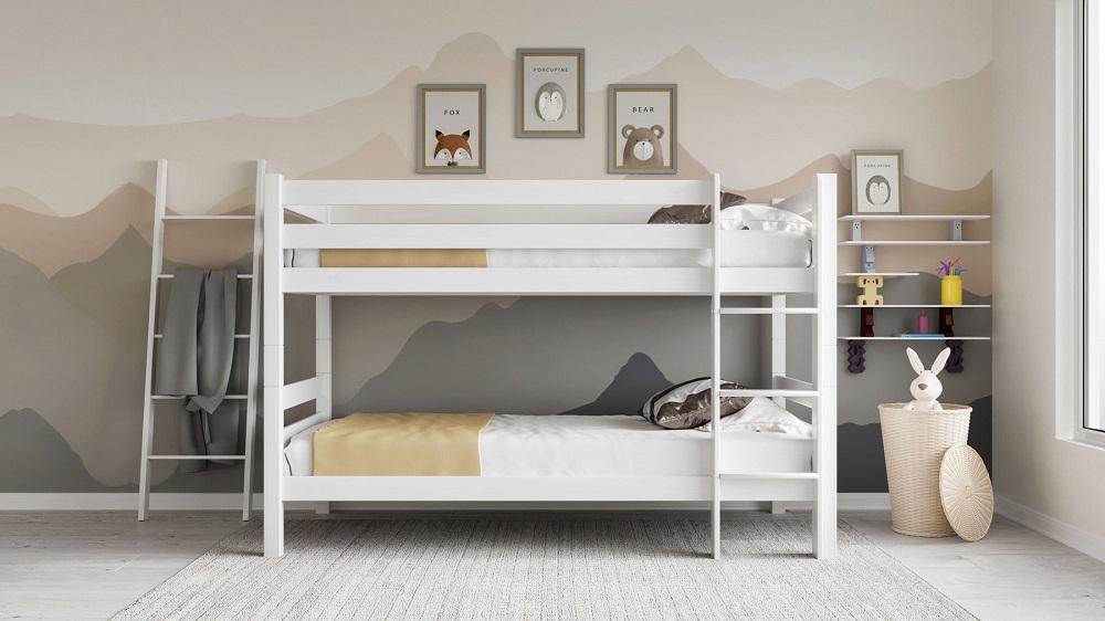 מיטת קומתיים מעץ בוק לני