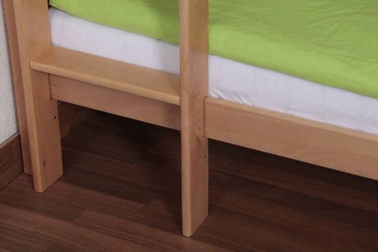 סולם של מיטת קומותיים מעץ