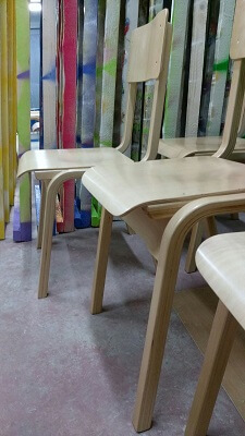 childs wooden chair from beechwood