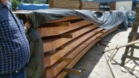 European imported pine beams