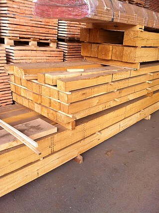 hardwood oak lumber beams