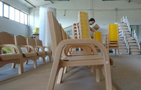 kids wooden chair for kindergartens