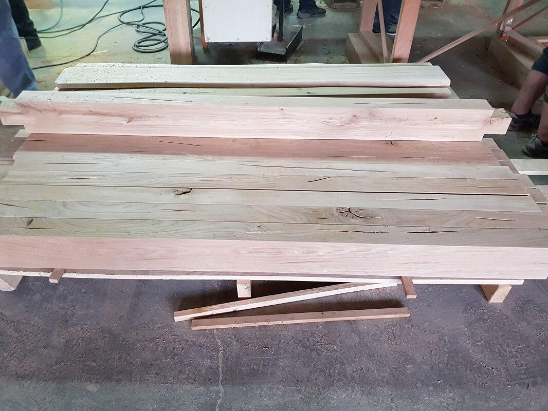 natural oak beams