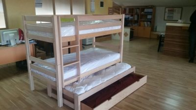 quality wood bunk bed - leni