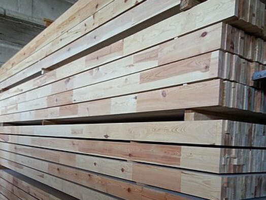 softwood spruce beams