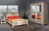 solid oak bed