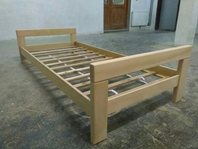 wooden single bed - simple design