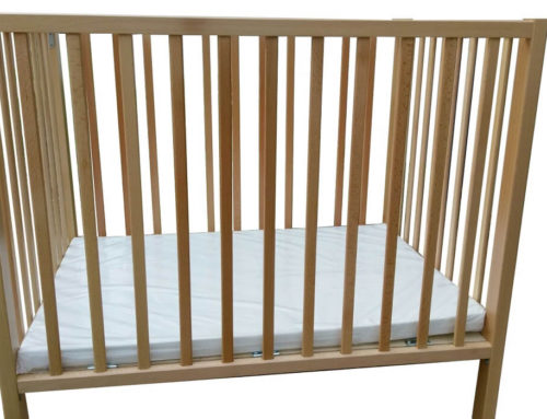 solid wood baby crib – large model