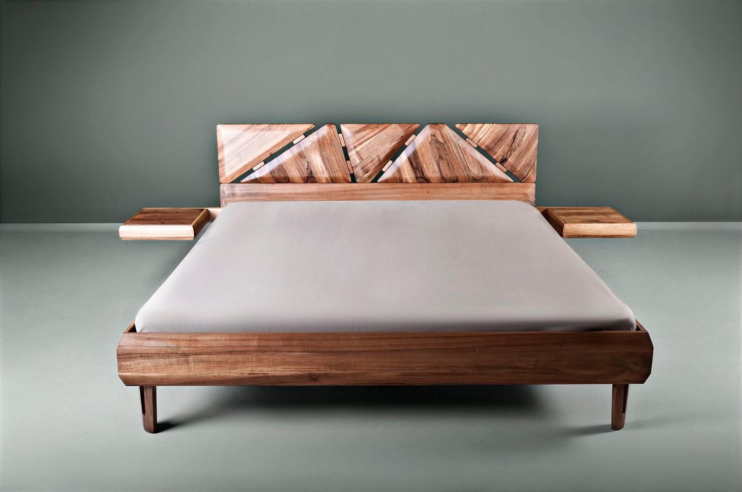 מיטה עשויה מעץ אגוז - Mista