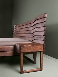 solid european walnut bed - Talas