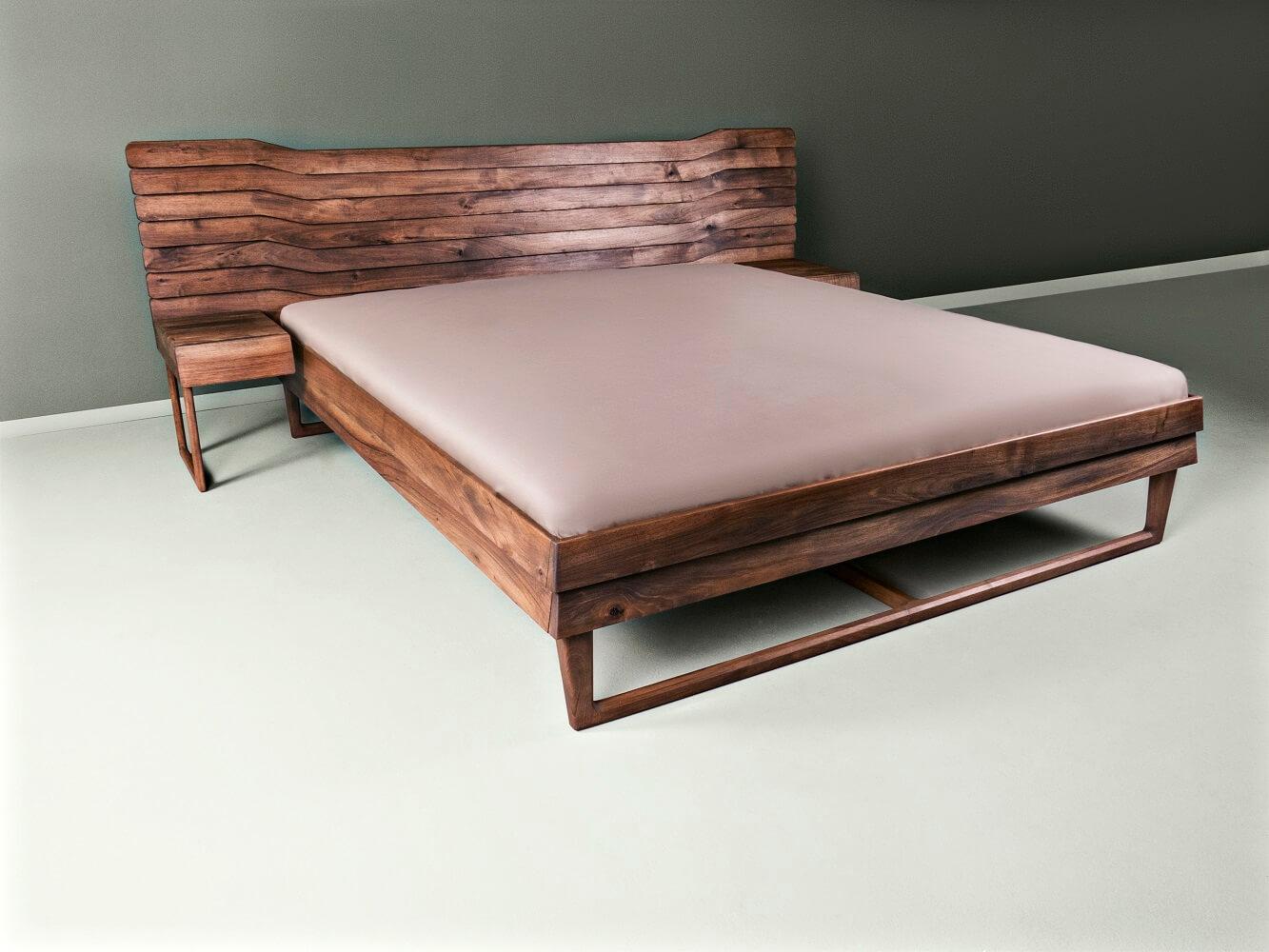 walnut double bed - Talas
