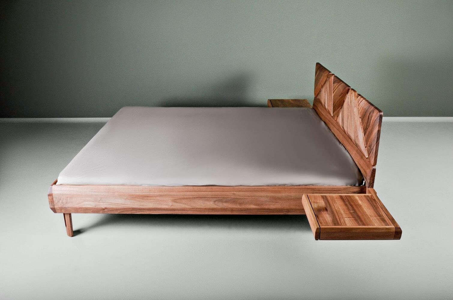 walnut king bed - Mista