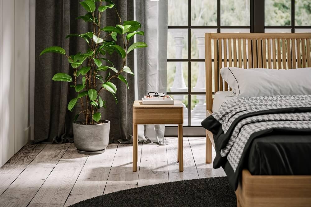 מיטה מעץ אלון דגם מונקו