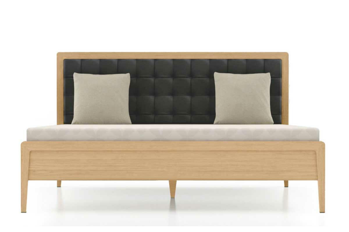 מיטה מעץ אלון דגם סקום
