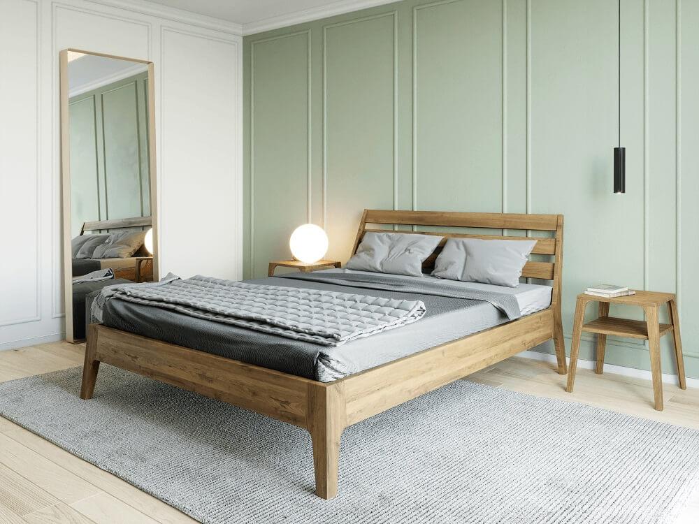 מיטה מעץ אלון דגם פריז