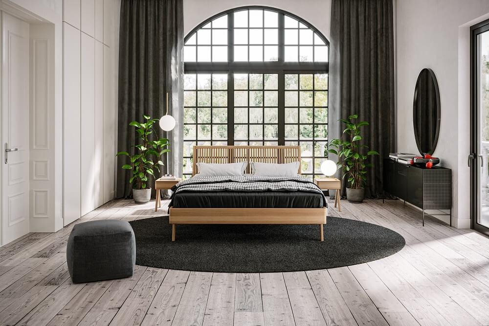 מיטה מעץ מלא אלון מונקו
