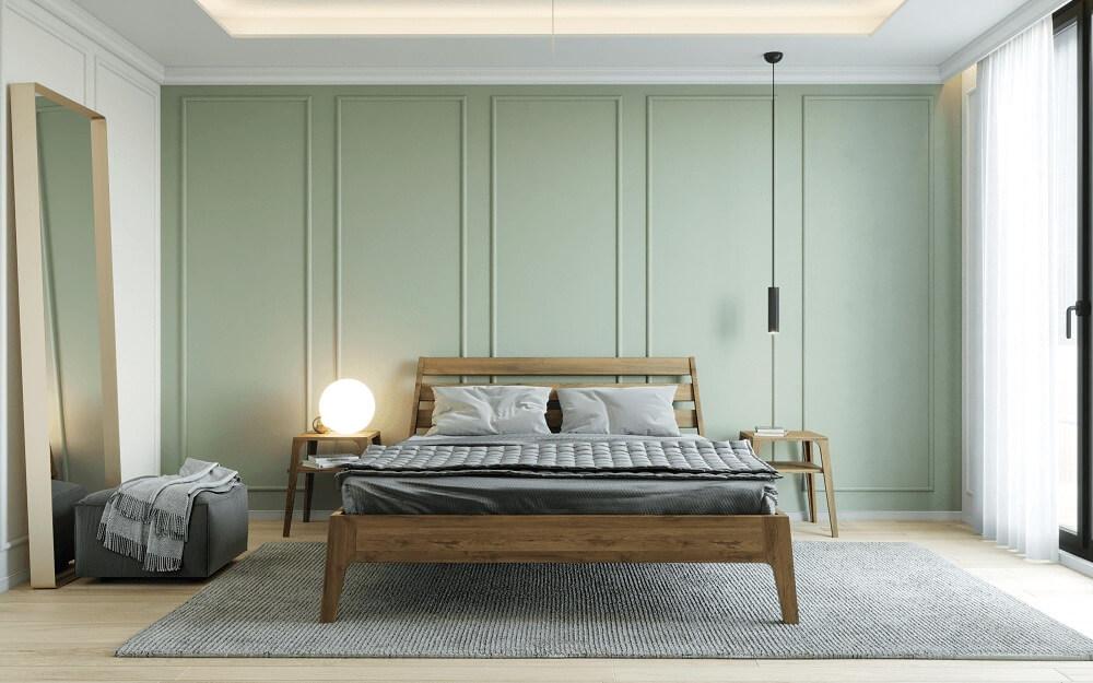 מיטת אלון בסגנון פריז