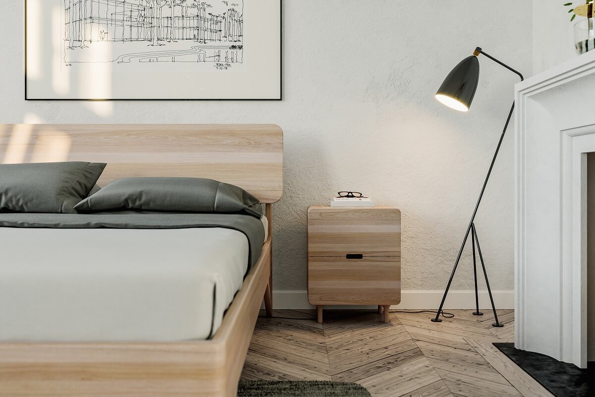 מיטת עץ אלון דגם אנזו