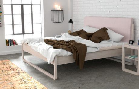 מיטה זוגית מעץ אגוז