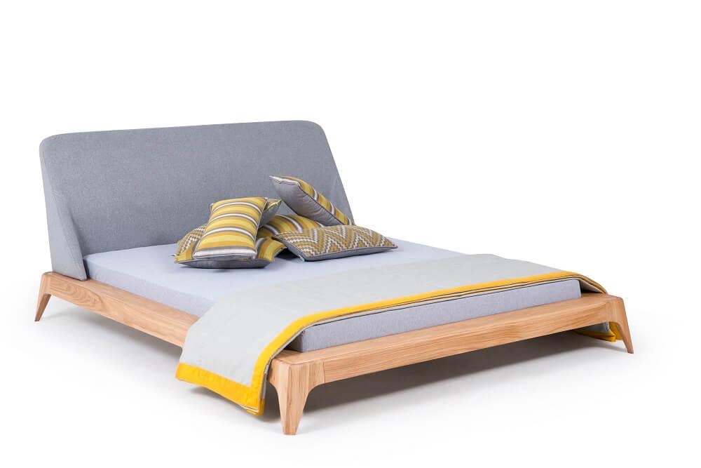 מיטה זוגית מעץ אלון דגם סונו